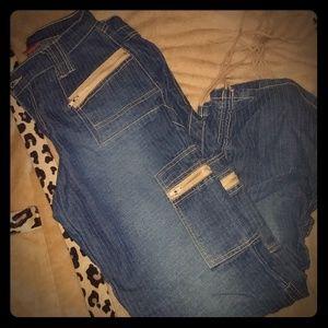 Denim - Lazer Drawstring Ankle Jeans